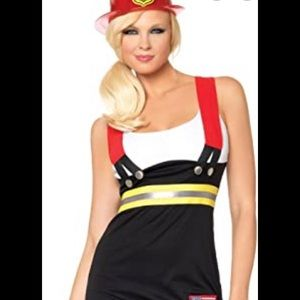 Leg Avenue sexy firefighter costume Sz M